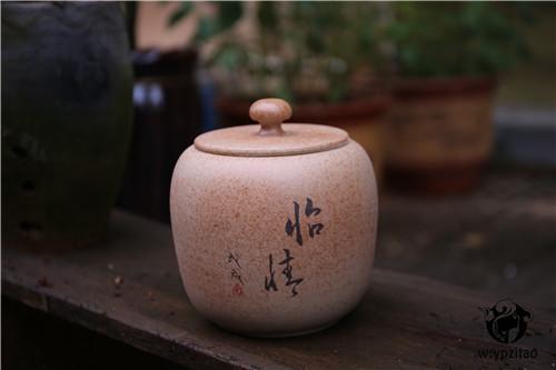 建水白陶,建水紫陶,柴烧,存茶罐